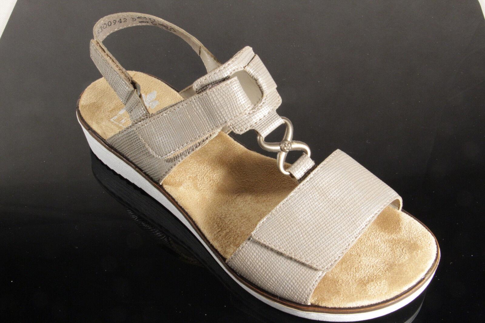 Rieker Damen Sandalen Sandaletten beige, weiche Innensohle KV 63687  NEU!!