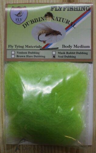 Dohiku Seal//Seehund Dubbing Päckchen 6 verschiedene Farben