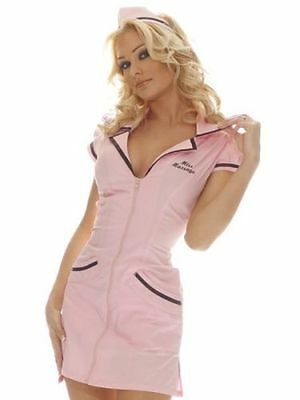 Ann Summers Miss Massage Sexy Fancy Dress Hen Night Party Outfit Pink Size 12