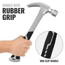 Fibreglass Shaft Claw Hammer 20oz Tool Solid Forged Steel Non Slip Curved Grip