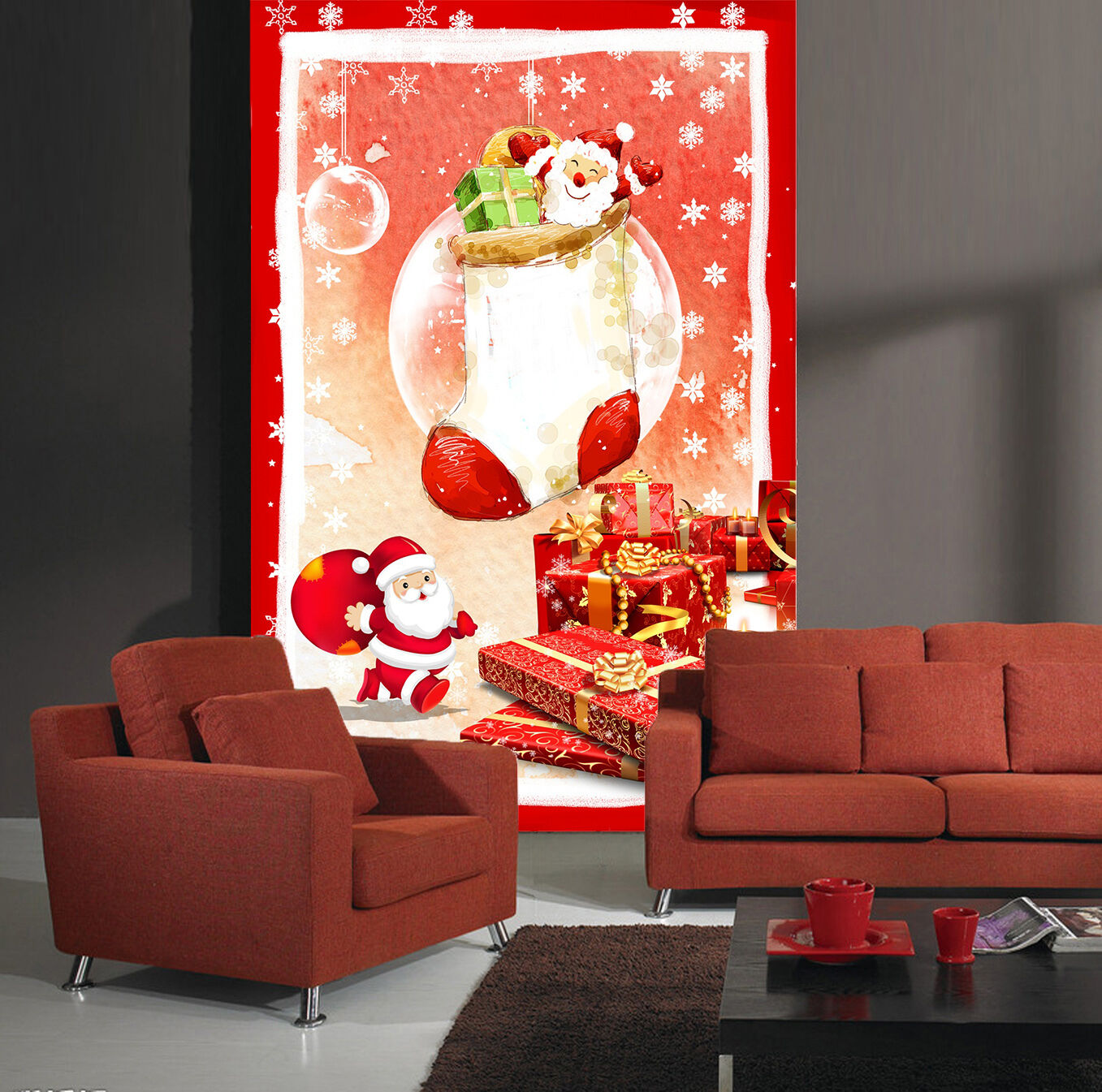 3D Christmas White Snowman 66 Wall Paper Wall Print Decal Wall Deco Indoor Wall