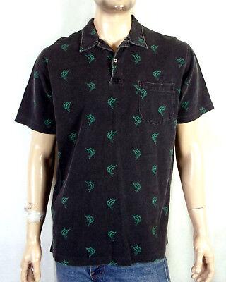 Vintage-mode Für Herren Freizeithemden & Shirts Zielsetzung Vtg 90er Jahre Euc Polo Ralph Lauren Verblichen Robust Marlin Aufdruck Polohemd
