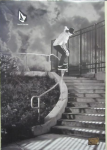 VOLCOM-skateboard-2009-DAVID-GRAVETTE-RIVERBOAT-GAMBLERS-2-SIDED-POSTER-Flawless