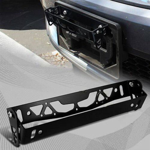 Aluminum Adjustable Rotating Number JDM Car License Plate Frame Holder GREEN