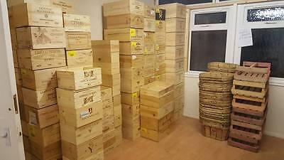 Serio 12 Bottiglia Dimensioni - In Legno Francese Chateau Vino Gabbie Caselle Consegna Gratuita-mostra Il Titolo Originale