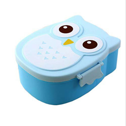 Eule Kinder Brotdose Cartoon Brotbox Frühstücksdose Apfel Dose Lunchbox Neu