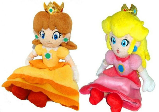 "8"" Super Mario Princess Peach & Daisy Soft Plush Toy Stuffed Doll Xmas Gift 1Set"