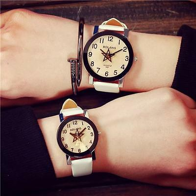 Fashion Lovers Watch Women Men Leather Strap Quartz Analog Wrist Watch Watches