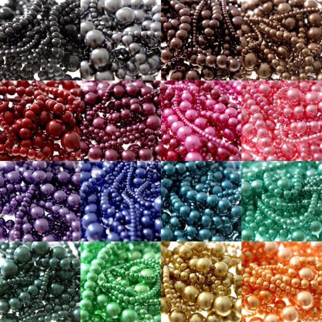 Perles nacrées en verre couleur au choix création bijoux