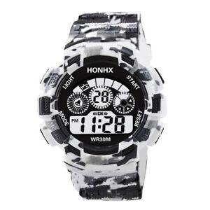 Mode-Herren-Jungen-Digital-Analog-Quarz-Alarm-Datum-Sport-Freizeit-Armbanduhr