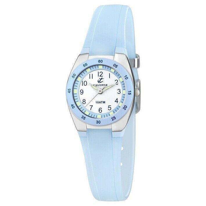 Reloj Calypso correa de caucho color azul K6043/D con números árabes
