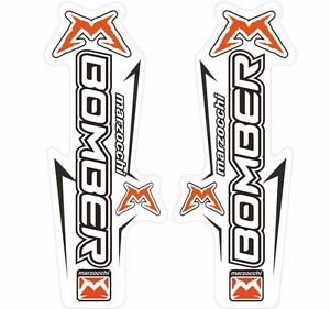 Marzocchi Bomber Z1 Light 2006 Fork Suspension Sticker Decal Kit Adhesive White