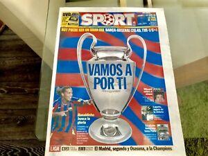 Sport Spanish Newspaper Barcelona V Arsenal Champions League Final 2006 Rare - Gateshead, United Kingdom - Sport Spanish Newspaper Barcelona V Arsenal Champions League Final 2006 Rare - Gateshead, United Kingdom