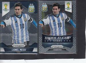 LIONEL MESSI ARGENTINA 2014 PRIZM FIFA WORLD CUP # 12 GRADED 10