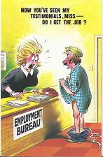 Vintage 1970's Bamforth COMIC Postcard (as new condition) My Testimonials #495