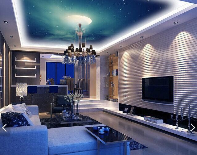 3D Fog Stars Moon Sky 944 Wall Paper Wall Print Decal Wall Deco AJ WALLPAPER