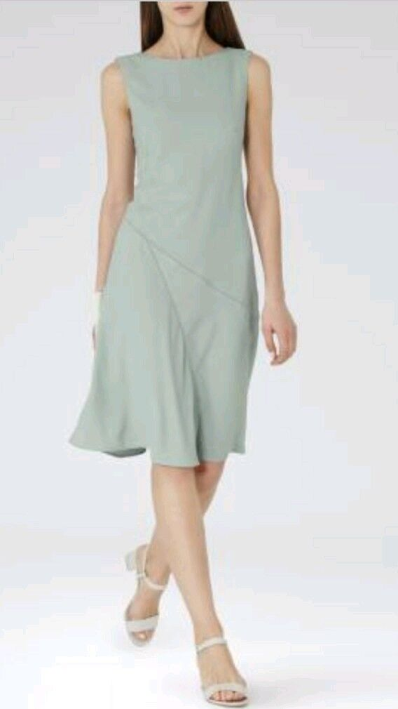 Designer REISS Ritz dress size size size 8 --BRAND NEW-- knee length pale green lined 4b5b52
