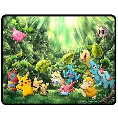 New Cute Pokemon Pikachu Pika Fleece Blanket Decor Gift