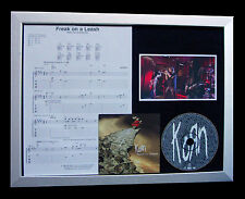KORN Freak On A Leash GALLERY QUALITY CD FRAMED DISPLAY+EXPRESS GLOBAL SHIPPING