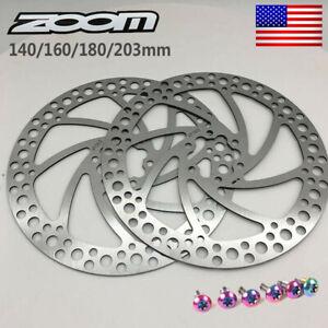 ZOOM Mechanical Disc Brake Front//Rear Brake MTB Bike 140//160//180//203mm Rotor US