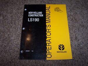 NH-New-Holland-LS190-Skid-Steer-Loader-Owner-Operator-User-Guide-Manual