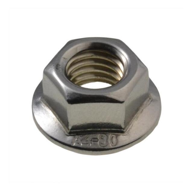 G316 Marine Stainless Steel M12 (12mm) Metric Coarse Hex Serrated Flange Nut