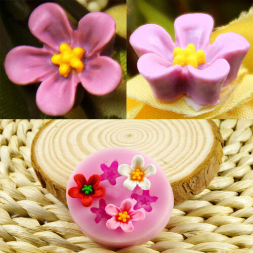 3D Flower Silicone Mold Fondant Gift Decorating DIY Chocolate Cookie Soap Mould