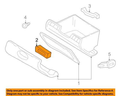Dodge CHRYSLER OEM 98-00 Durango Glove Compartment Box-Latch Assembly 5EM34VK9
