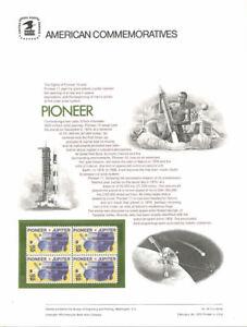 44-10c-Pioneer-Spacecraft-1556-USPS-Commemorative-Stamp-Panel