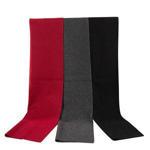 Men's Long Cashmere Soft Warm Wrap Neck Scarf Solid Color Scarves Warm Gift