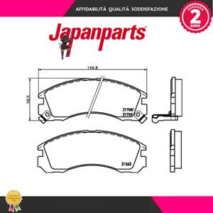 PP599AF-Kit-pastiglie-freno-a-disco-Mitsubishi-MARCA-JAPANPARTS