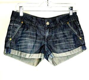 American-Eagle-Shorts-Size-2-Rolled-Hem-Dark-Blue-Grey-100-Cotton-29x2-5