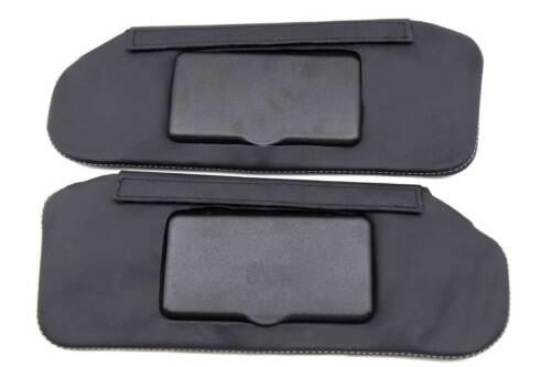 Fits 93-02 Camaro Firebird Real Leather Sunvisor Covers Set Gray Stitch