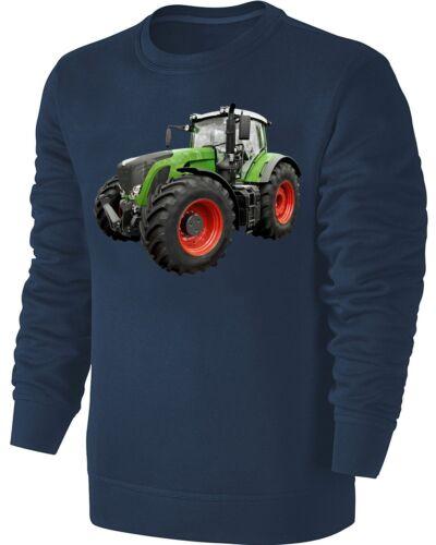 Traktor Sweatshirt Grüner Schlepper Pullover Blau