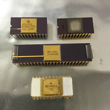 Rare Vintage IC'c Electronic components Gold EPROM Job Lot Collectable 4 Chips