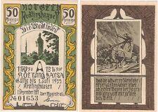 Germany 50 Pfennig 1921 Notgeld Recklinghausen EF Banknote