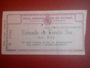Entrada Futbol 1968 Real Madrid Ajax Champions League Original Ebay