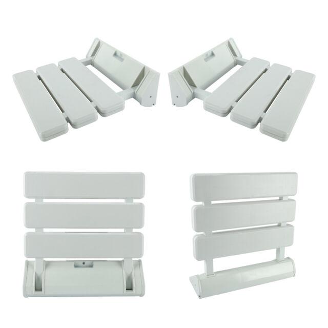 Brilliant Folding Bath Seat Shower Chair Bench Wall Mount Solid Plastic Construction 220Lb Machost Co Dining Chair Design Ideas Machostcouk