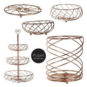 Kuper Kitchen Accessories Metal Utensil Holder Fruit Baskets