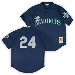 more photos 3d48d eb5ab Details about Ken Griffey Jr 1995 Seattle Mariners Authentic Mesh BP Jersey  by Mitchell & Ness