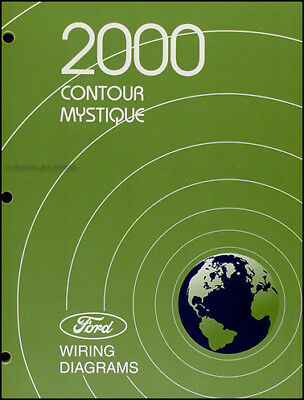 2000 Ford Contour And Mercury Mystique Wiring Diagrams Original Electrical Book Ebay