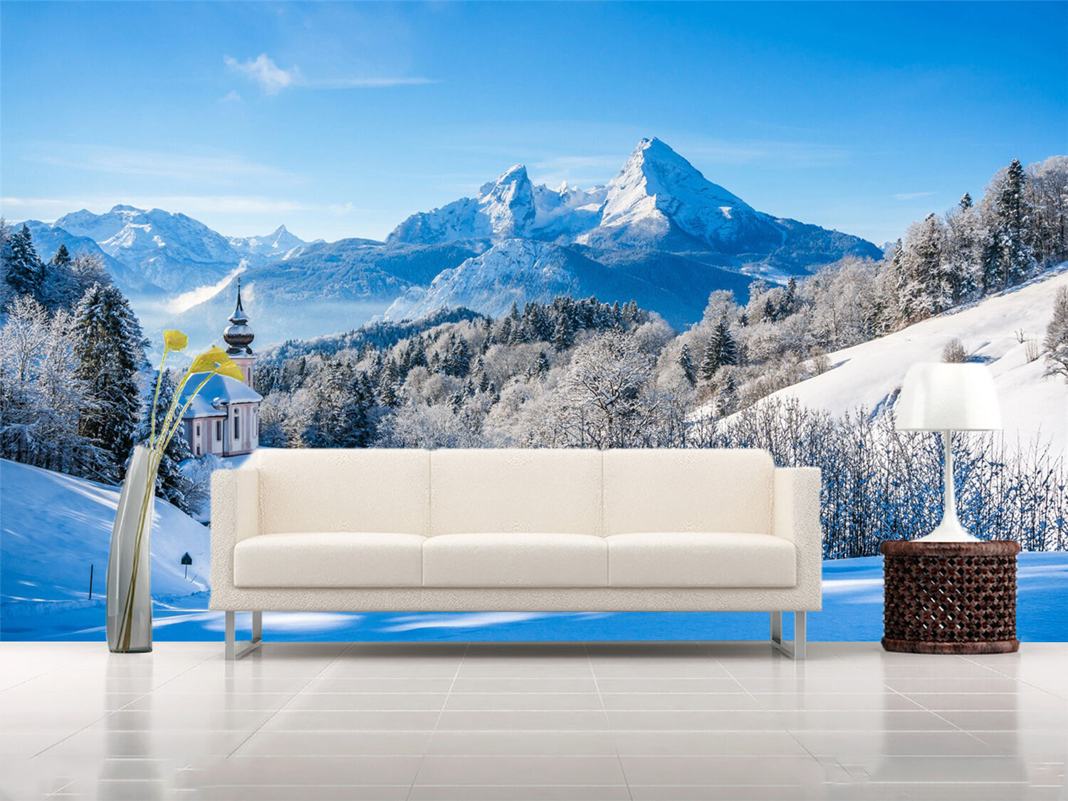 3D Snow Mountain ski Weiß Wall Paper Print Decal Wall Deco Indoor wall Mural
