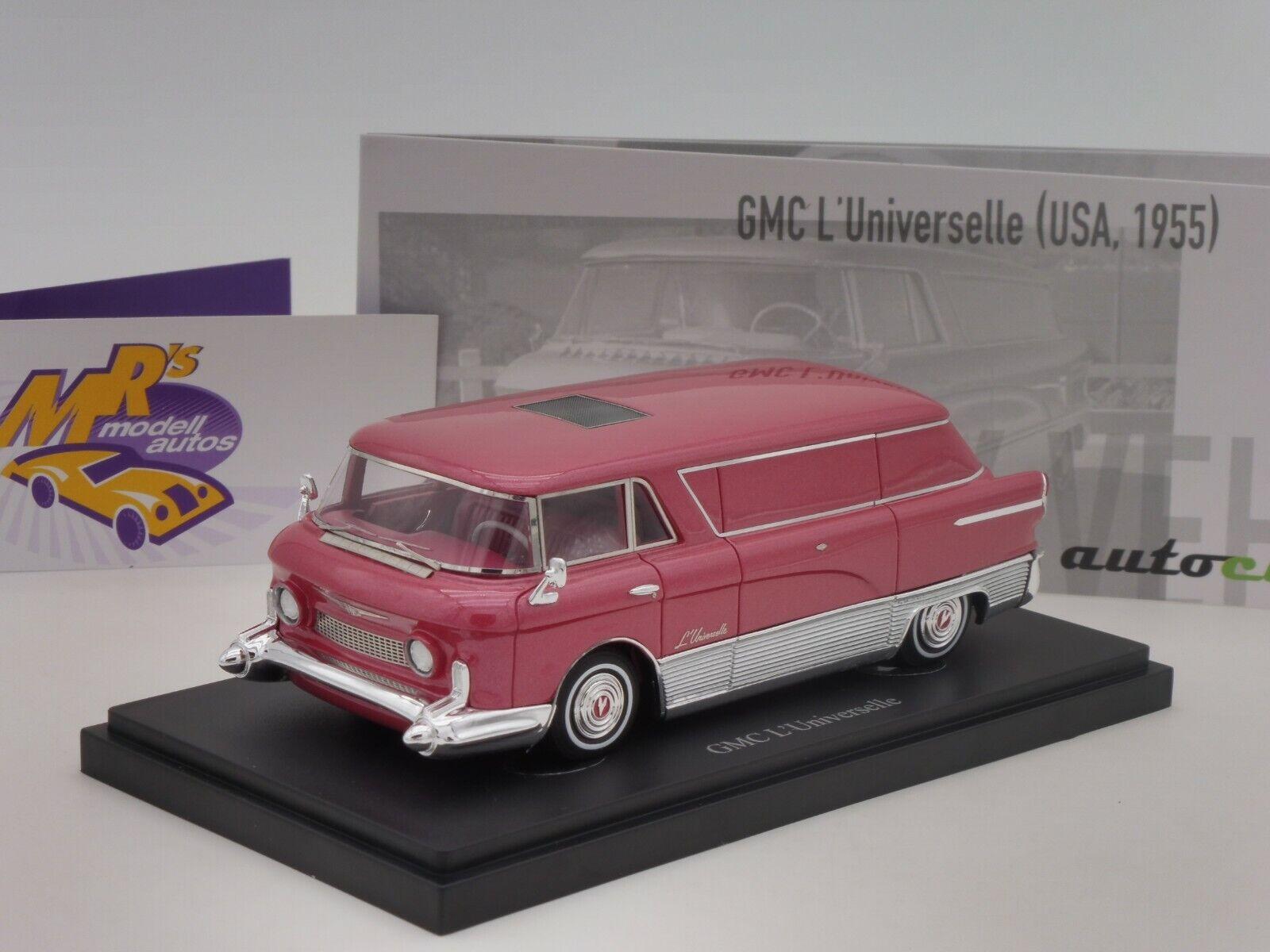 Autocult 08011   GMC L Universal Transporter year 1955  redmetallic  1 43