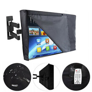 TV-Cover-Outdoor-Gear-Black-Waterproof-Protector-All-Sizes-30-034-58-034-Plasma-Coat