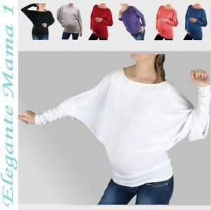 Umstandsshirt-Tunika-XS-XL-Kimono-Shirt-Bluse-Umstandstunika-Fledermaus