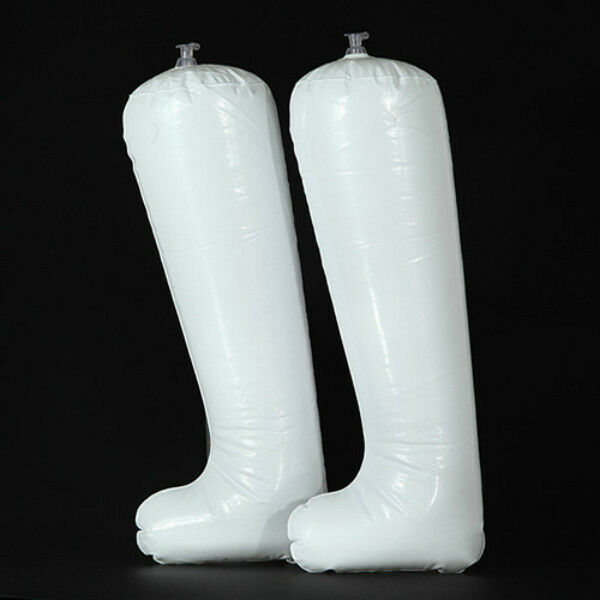 2 Plastic Inflatable Boot Shoe Shaper - Tall Insert Shape Support Stands Holder