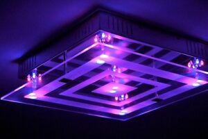 Plafoniera Da Esterno Con Doppia Lampada : Lampada da soffitto led design con variatore di luce plafoniera