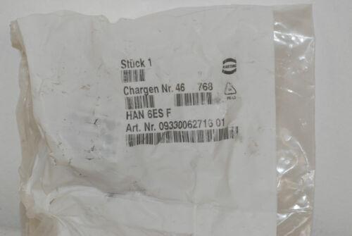 500V female insert    NEW Harting Connector HAN 6ES F 16 Amp