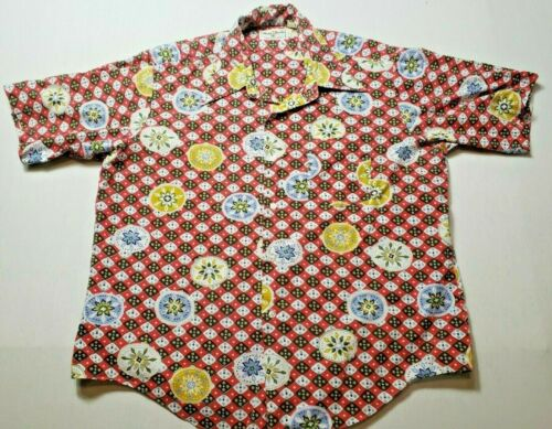 Vintage Male Duds Disco Psychedelic Shirt Mens XL