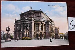 Carte Postale Vue Carte Hesse Frankfurt A. Main Lithographie Bienvenue-afficher Le Titre D'origine Parfait Dans L'ExéCution